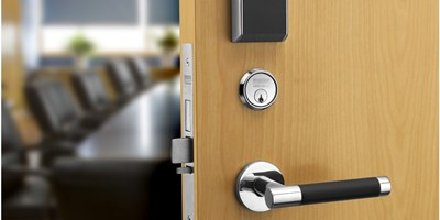 door with electronic access control